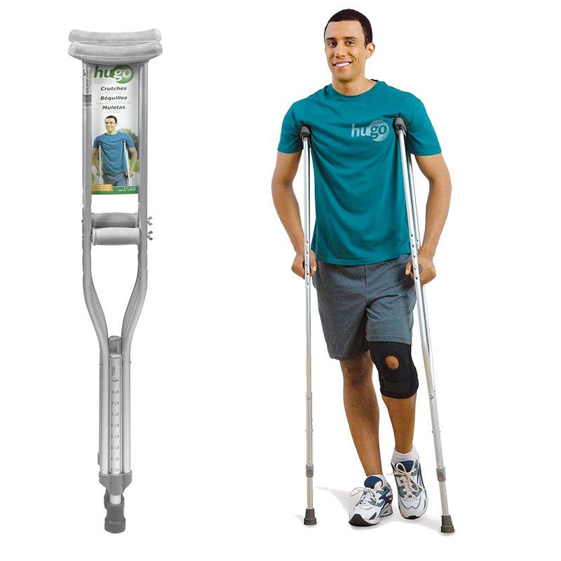 Hugo Mobility Adjustable Aluminum Crutches
