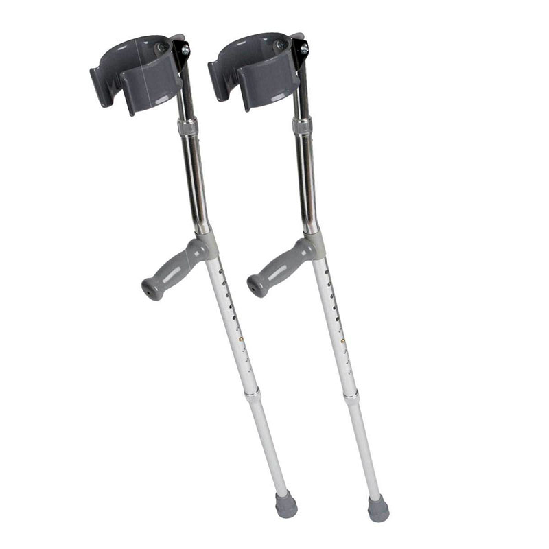 Medline Aluminum Forearm Crutches