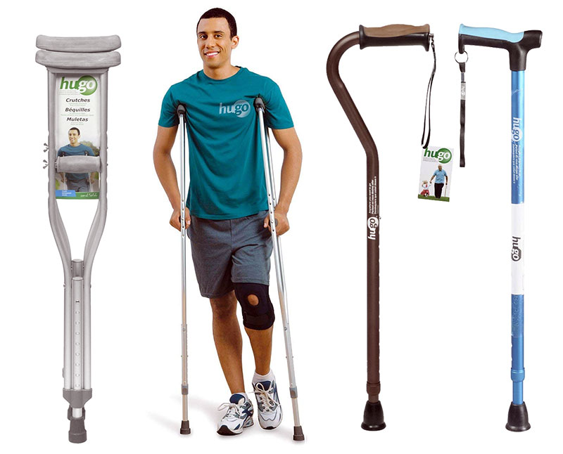 Hugo Lightweight Adjustable Aluminum Crutches