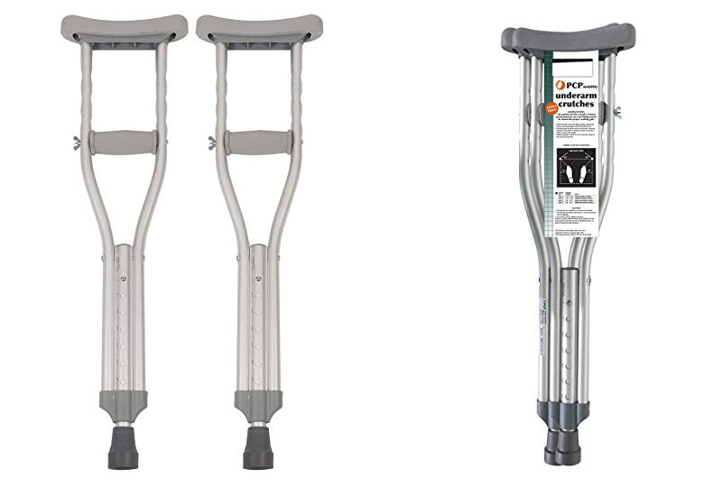Push Button Adjustable Height Crutches