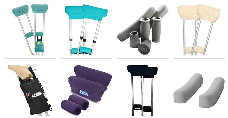 Crutch cushions